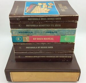 Motorola Vintage Electronic Reference Manuals Ics Semis toroids Ham Radio Estate
