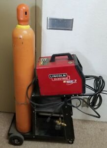 Lincoln Electric Nascar Performance Sp 135t Mig Welder W Cart Gas