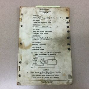 Hyster Winch Service Repair Manual Parts Catalog Book For Caterpillar D6