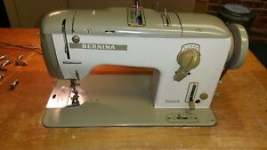 Bernina Favorit 740 Industrial Sewing Machine External Motor Flatbed In Table