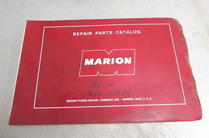 Marion Power Shovel Company 151 m Repair Parts Catalog Manual 21594