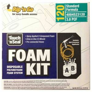 Touch N Seal Spray Foam Roof Insulation Kit 3 0 Pcf Closed Cell Foam 120 Bf