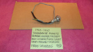 1963 1967 Studebaker Avanti Oem License Plate Light Assembly Housing Wiring