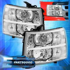 For 07 14 Chevy Silverado Direct Replacement Driving Head Lights Lamps Clear Set