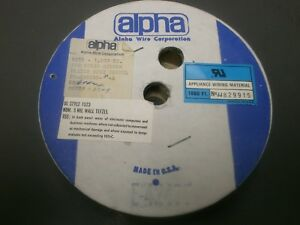 Alpha 1806 Tefzel 28awg Solid Silver Plated Copper 1000 Spool Ul1523