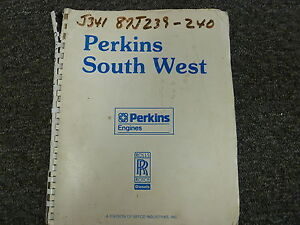 Perkins Model 4 236 Industrial Diesel Engine Parts Catalog Manual Book Ld33487