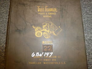 Garrett Model 22 Tree Farmer Skidder Loader Logging Parts Catalog Manual Book