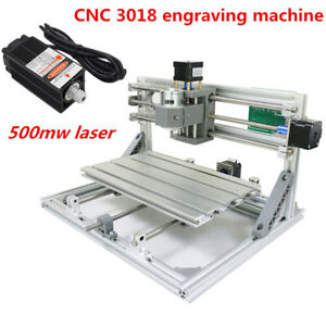 Mini Cnc 3018 Pro Laser 500mw Engraving Machine Pcb Milling Woodworking Station
