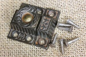 Very Small Cabinet Catch Jelly Cupboard Latch Decorated Knob Old 1 5 8 Rustic