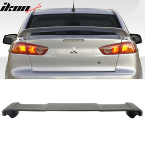 Fits 08 17 Mitsubishi Lancer Oe Style Rear Trunk Spoiler Wing Matte Black Abs