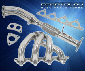 1992 1996 Honda Prelude Si 2 2l L4 H22 Vtec H22a 2pc Stainless Exhaust Header