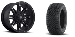 18 Fuel Hostage Black Wheels At Tires Package 285 65r18 8x6 5 Chevy Gmc 2500
