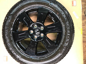 Oem Honda Ridgeline Gloss Black Edition Wheels 5x120 Firestone Tires 245 60 18
