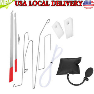 Universal Car Door Key Lost Lock Out Emergency Open Unlock Tool Kit Air Pump