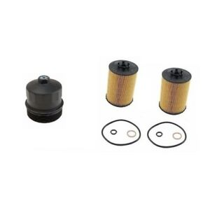 Bmw Oil Filter And Housing Cover Kit Hengst New 11427521008he H203h