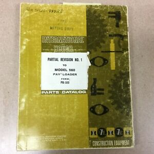 International 560 Parts Manual Book Catalog Wheel Pay Loader Guide List Pc 560 8