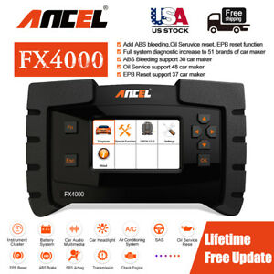 Ancel Fx4000 Obd2 Engine Abs Airbag Srs Reset Epb Auto Diagnostic Scanner Tool