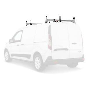 H1 2 Bar Aluminum Ladder Roof Van Rack Fits Ford Transit Connect 2014 on silver