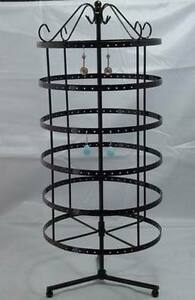 288 Holes Black Color Rotating Earrings Display Stand Rack Holder