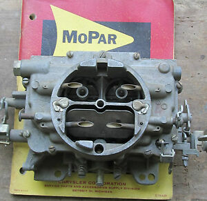 Nos 1966 Mopar 440 4bbl Carter Afb Carb 4 Speed 383 Satellite Coronet Fury