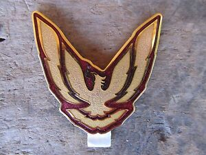 Nos Firebird Gta Trans Am Sail Panel Quarter Emblem Original Gm Red Gold