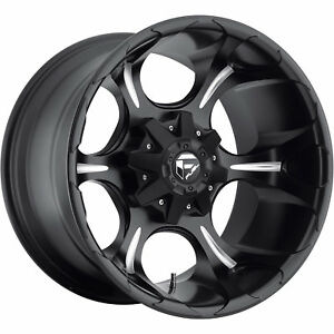 20x12 Black Fuel Dune 6x135 6x5 5 44 Wheels Ridge Grappler 35 Tires