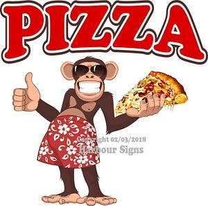 Pizza Decal choose Your Size Monkey Concession Food Truck Sticker