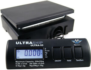 Myweigh Ultraship Ultra 55 Package Scale Black Up To 55 1lbs Lbs 0 2 2lbs X