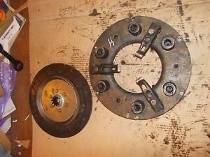 Farmall H Hv O4 Tractor Ih Engine Clutch And Pressure Plate Assembly