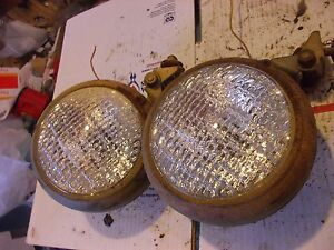 Case 400 Tractor Pair Of 2 Original Working Front 6v Lights Light