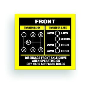 Transmission Shift Pattern Decal Fits Willys Jeep Dana 300 5 Speed Ar024