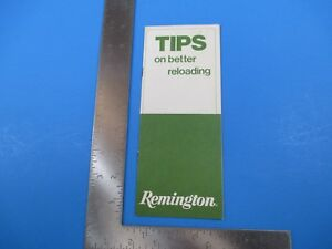 Vintage Tips on Better Reloading Remington Rifle Guide Advertisement S4261 $11.99