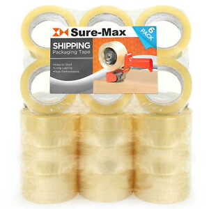 24 Rolls 3 Extra wide Clear Shipping Packing Moving Tape 110 Yds 330 Ea 2mil