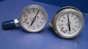 Span Pressure Gauge 30 0 30 Psi 1 4 Fvcr 1 4 Mvcr Lot Of 2 Used