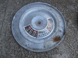 1970 Up 4 Barrel Barrel Snorkel Air Cleaner Lid Mopar Dodge Plymouth 340 440 Hp