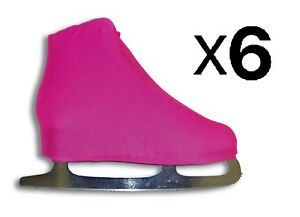 A&R Universal Ice Figure Skate Cover Lycra Stretch Cover Neon Pink (6-Pack)