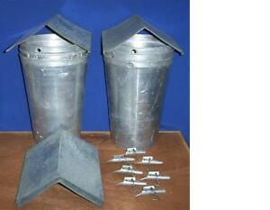 4 Maple Syrup Aluminum Sap Buckets 4 Lids Peaked Covers 4 Taps Spiles Spouts