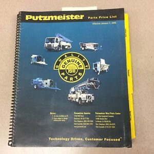 Putzmeister Spare Parts Price List Manual Telebelt Concrete Conveyor Pumps Book
