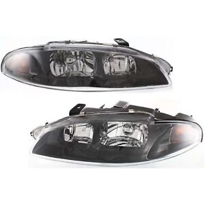 Headlight Set For 97 99 Mitsubishi Eclipse Left And Right With Bulb 2pc