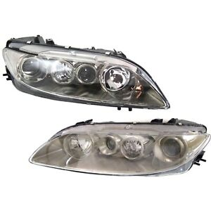 Headlight Set For 2003 2004 2005 Mazda 6 S I Models Left And Right 2pc