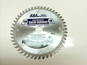 Amana Age Saw Blade Comparable To Festool 495375 And 160mm Track Saw Blades