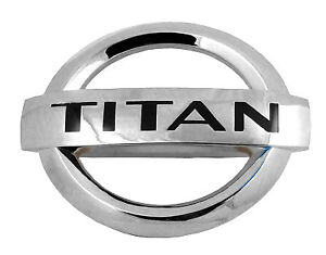 Nissan Titan Custom Chrome Finish Front titan Emblem