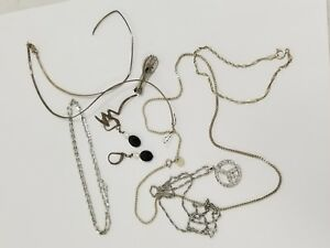 9 Items Sterling Silver 925 Scrap Silver Jewelry 27 16 Grams