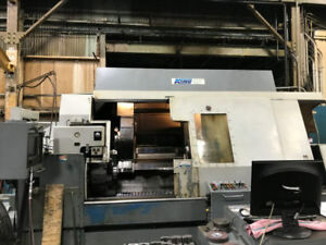 Sc25 Warner Swasey Hollow spindle Long bed 4 axis Cnc Turret Lathe tw316