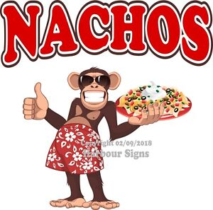 Nachos Decal choose Your Size Monkey Concession Food Sticker