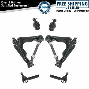 6 Piece Steering Suspension Kit Control Arms Ball Joints Tie Rods For Dodge