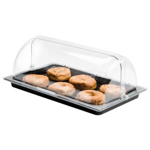 Sample Display Acrylic Roll Top Cover Counter Bakery Donut Pastry Display Case