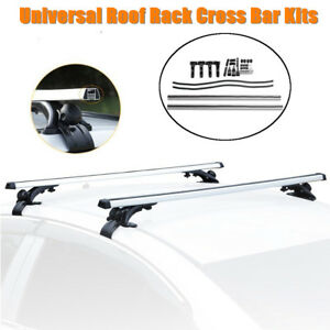 48 Universal Car Top Roof Rack Cross Tube Bar Cargo Luggage Carrier Kit Silver