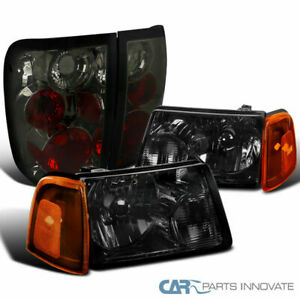 Fit Ford 01 05 Ranger Smoke Headlights corner Signal Lamps tinted Tail Lights
