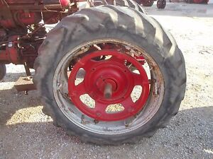 Farmall Ih 560 Sm 656 400 450 Tractor Power Adjust 14 Rims 15 5x38 Goodyr Tires
